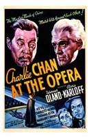 Charlie Chan At the Opera Oland And Karloff Wall Poster