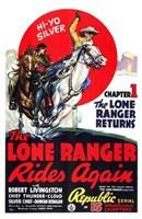 The Lone Ranger Rides Again Robert Livingston Wall Poster