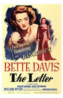 The Letter Bette Davis Wall Poster