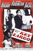 Key Largo Black and Red Wall Poster