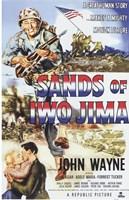 Sands of Iwo Jima - American flag Fine-Art Print