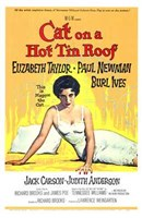 Cat on a Hot Tin Roof Elizabeth Taylor & Paul Newman Wall Poster