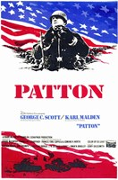 Patton - red, white, blue Wall Poster