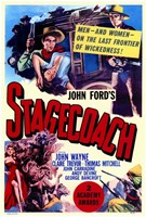 Stagecoach John Ford Wall Poster