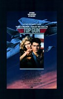Top Gun Fighter Jet & Tom Cruise Wall Poster