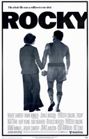 Rocky Silhouette His Whole Life Wall Poster
