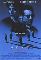 Heat Kilmer Pacino & De Niro Wall Poster