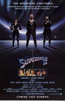 Superman 2 Adventure Continues Wall Poster