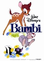 Bambi Thumper Flower Wall Poster