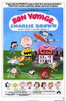 Bon Voyage Charlie Brown Wall Poster
