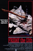 Friday the 13th Sean Cunningham Wall Poster