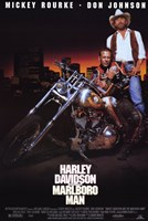 Harley Davidson and Marlboro Man Don Johnson Wall Poster