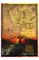 Lord of the Rings: the Two Towers Map Fine-Art Print