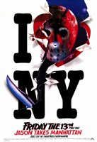 Friday the 13th Part8 Jason takes Manhattan Wall Poster