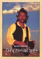 Dances with Wolves Costner Wall Poster