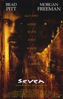 Seven - Brad Pitt Wall Poster