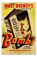 Bambi Book Wall Poster