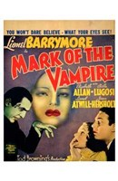 Mark of the Vampire - You won't dare believe Wall Poster