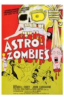 Astro-Zombies Wall Poster