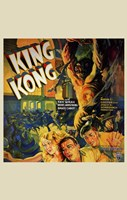 King Kong Running People Wall Poster
