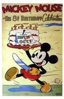 Mickey Mouse in His 8Th Birthday Celebra Fine-Art Print