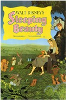 Sleeping Beauty with Forest Creatures Fine-Art Print