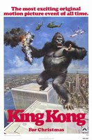 King Kong for Christmas Wall Poster