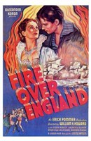 Fire Over England Wall Poster
