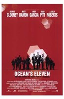 Ocean's Eleven - red Wall Poster