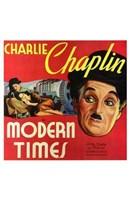 Modern Times Charlie Chaplin Close Up Wall Poster