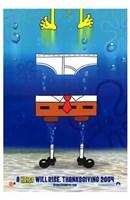 Spongebob Squarepants Movie Pants Wall Poster