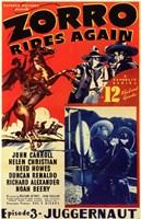 Zorro Rides Again Wall Poster
