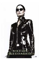 The Matrix Reloaded Carrie-Anne Moss as Trinity Wall Poster