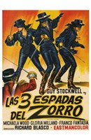 The Three Swords of Zorro Wall Poster