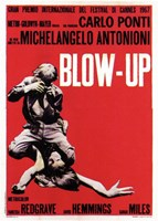 Blow Up Black, White & Red Wall Poster