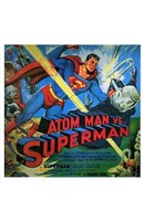 Atom Man Vs Superman Wall Poster