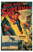 Atom Man Vs Superman Superman Flies Again Wall Poster
