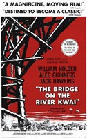 Bridge on the River Kwai Black Red & White Wall Poster