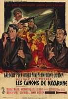 The Guns of Navarone in French Wall Poster