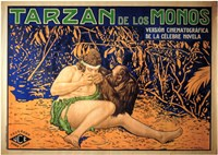 Tarzan of the Apes, c.1917 (Spanish) - style A Fine-Art Print