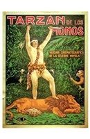 Tarzan of the Apes, c.1917 (Spanish) - style B Wall Poster