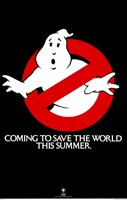Ghostbusters Coming to Save the World Wall Poster