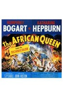 The African Queen Humphrey Bogart & Audrey Hepburn Wall Poster