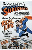 Superman Comic to Movie Wall Poster