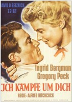 Spellbound Ingrid Bergman and Gregory Peck Wall Poster