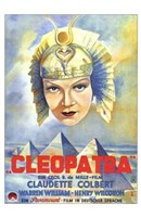Cleopatra Claudette Colbert Wall Poster