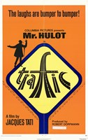 Traffic - yellow sign Wall Poster