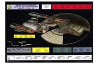 Star Trek: The Next Generation - NCC-1701-D cutaway Fine-Art Print