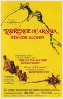 Lawrence of Arabia Yellow Wall Poster