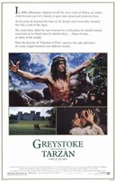 Greystoke: The Legend of Tarzan, Lord of the Apes, c.1984 Wall Poster